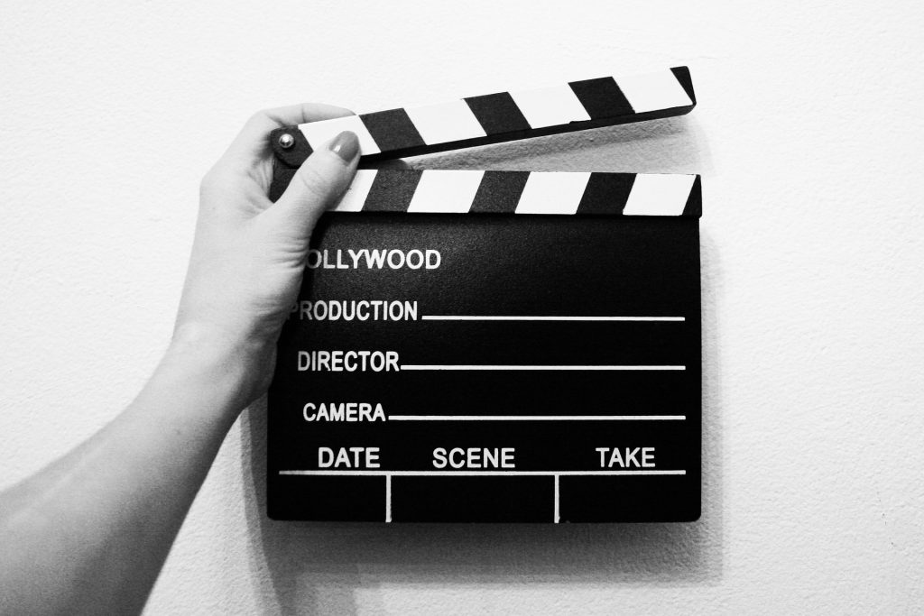 Video production slate.