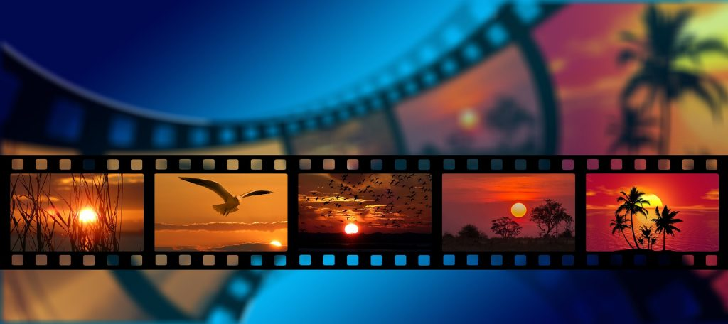 Film strip showcasing different images.