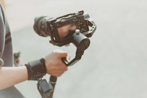 video camera on wrist support